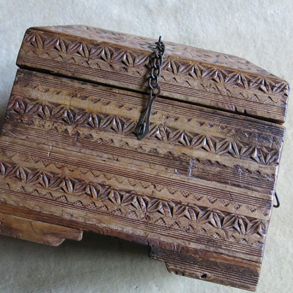 TURKMEN handmade wooden box for valuables
