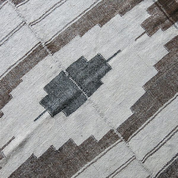 PERSIA – SANANDAJ KURDISH Angora and wool fine weave small kilim