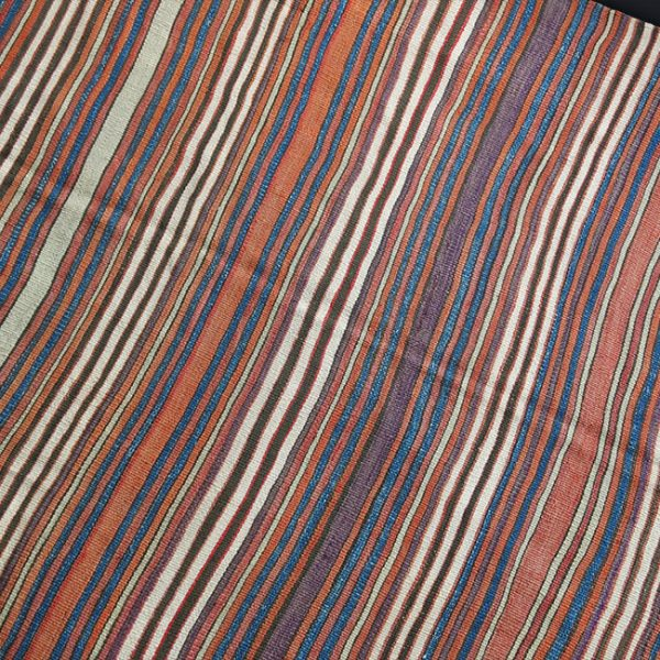 WESTERN ANATOLIA - AYDIN Turkmen tribal striped kilim