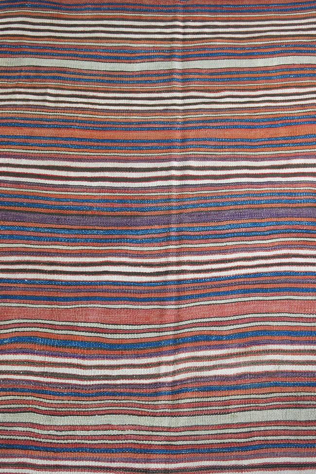 WESTERN ANATOLIA - AYDIN Turkmen tribal striped kilim