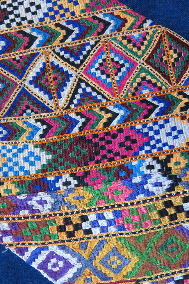 INDIA - PAKISTAN SILK embroidered vanity bag