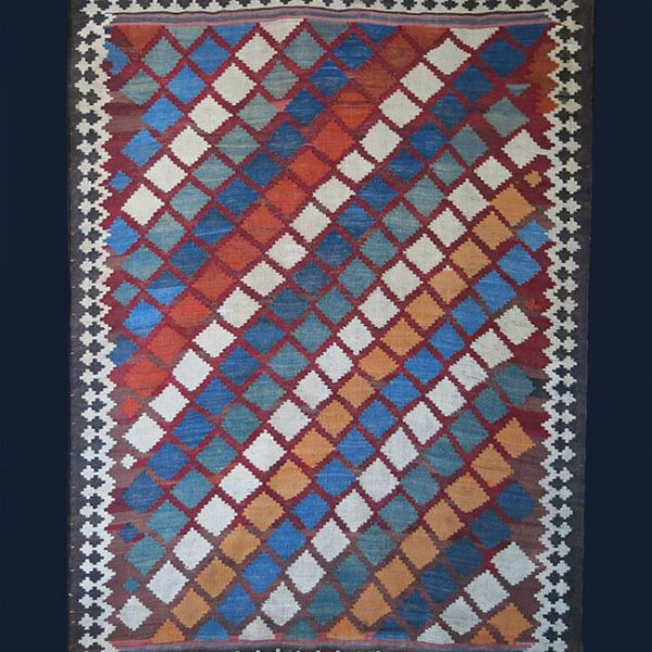QASHKAI antique tribal KILIM from Southwest of Persia