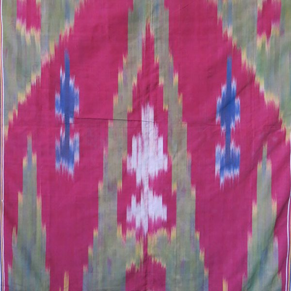 PERSIA - YAZD Antique silk ikat wall hanging