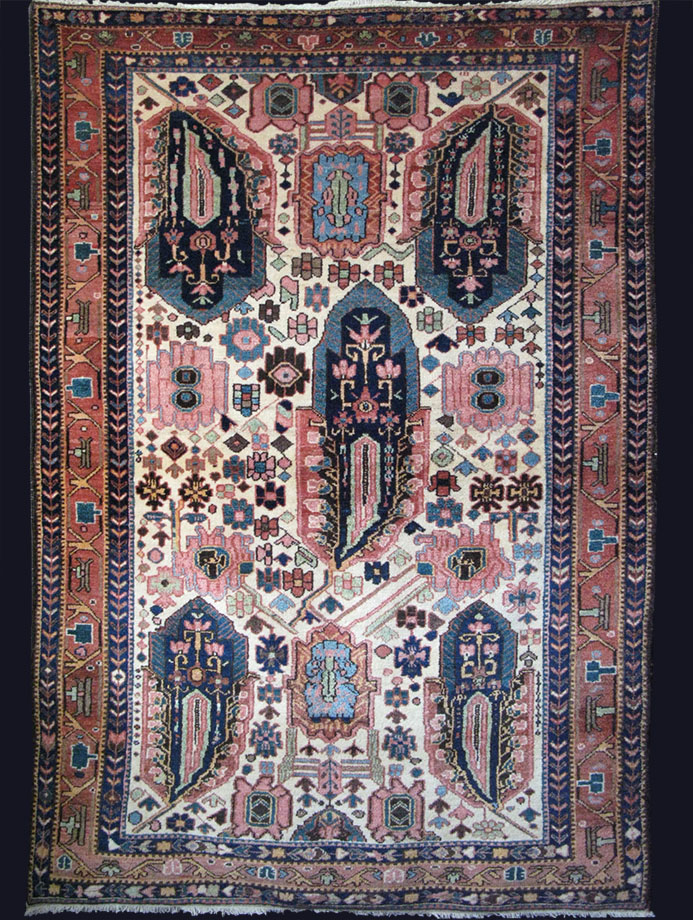 PERSIA - Southwest BAKTIARI tribal all wool antique rug