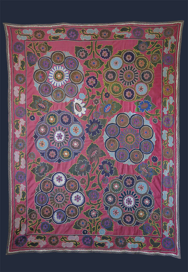 UZBEKISTAN - KASHKADARYA Kosan silk embroidery Suzani