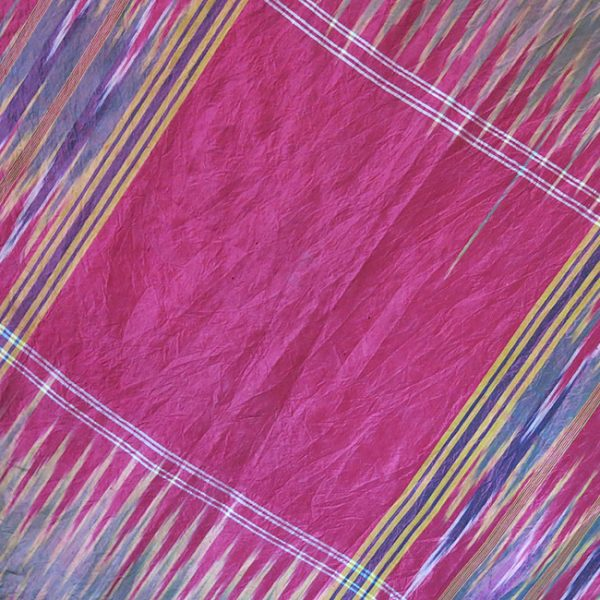 PERSIA – YAZD, tribal silk Ikat ( probably ) a wedding shawl