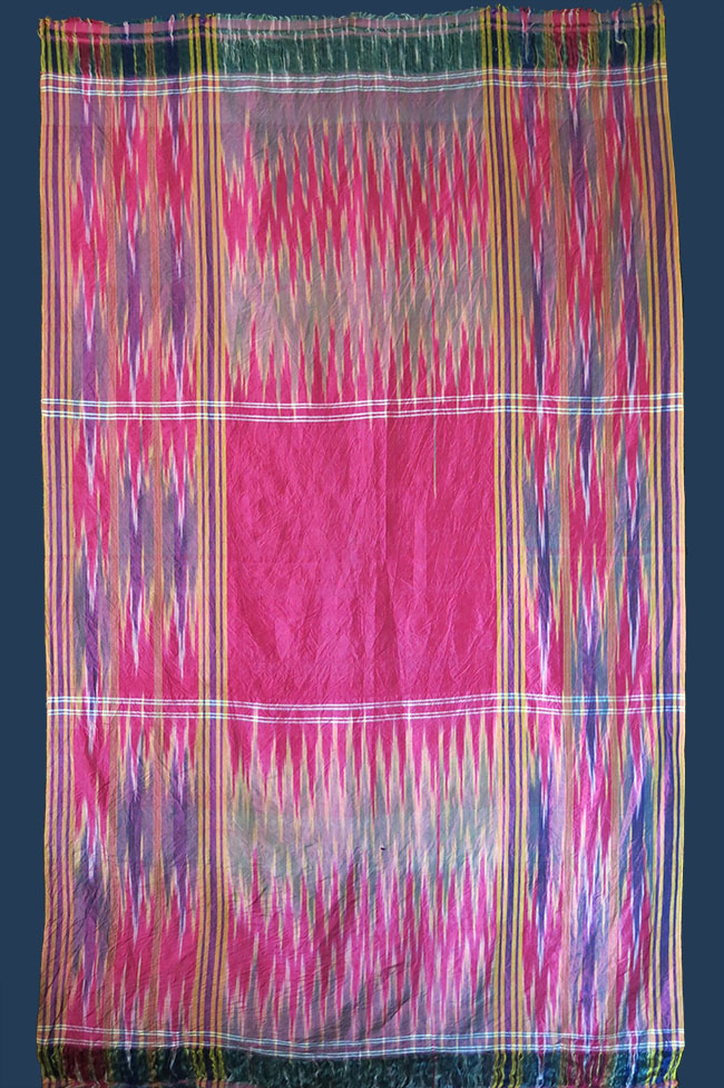 PERSIA – YAZD, tribal silk Ikat ( probably ) a wedding shawl