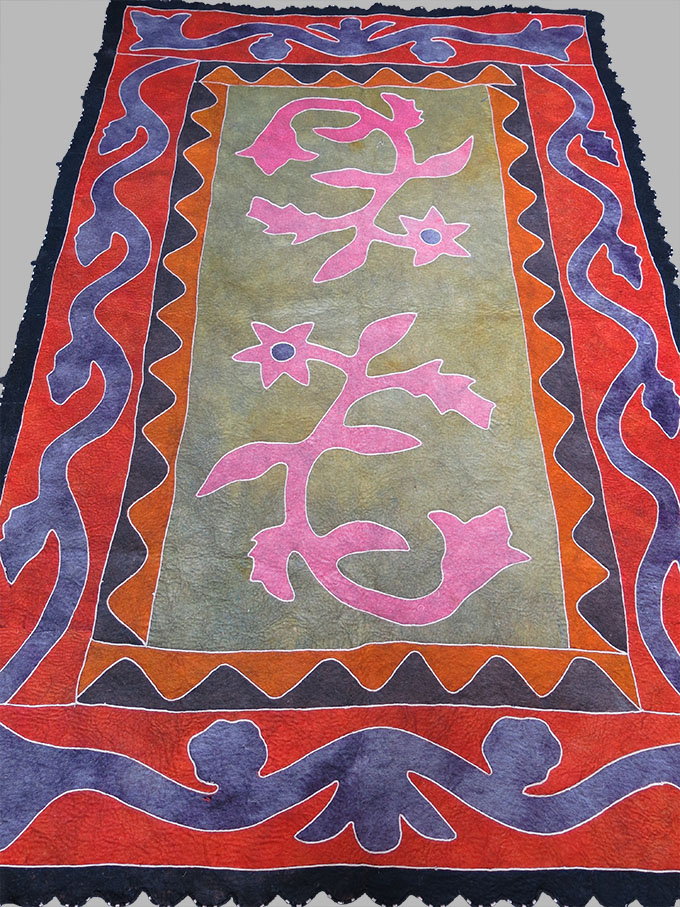 CENTRAL ASIA - KIRGIZ ethnic TALISMANIC FELT HANGING