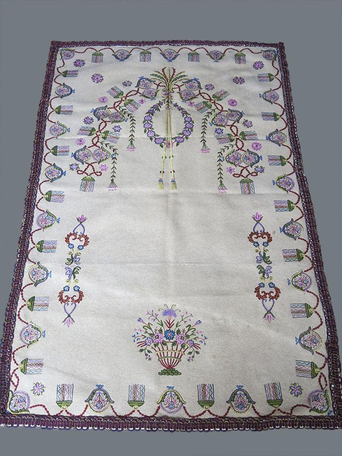 ANATOLIA KONYA - Angora / wool mixed felt prayer wall decoration