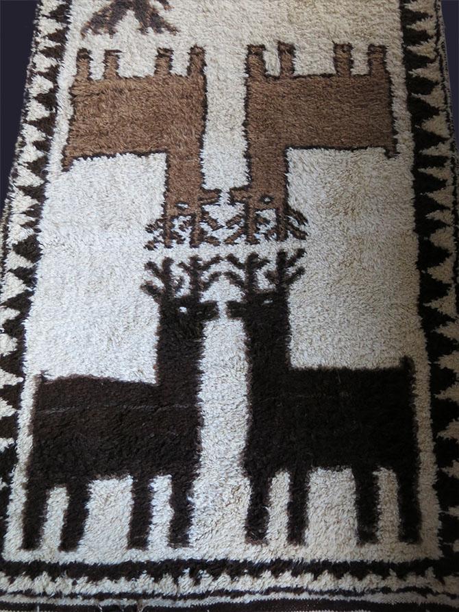 NORTHERN IRAQ Kurdish tribal thick pile all wool main rug