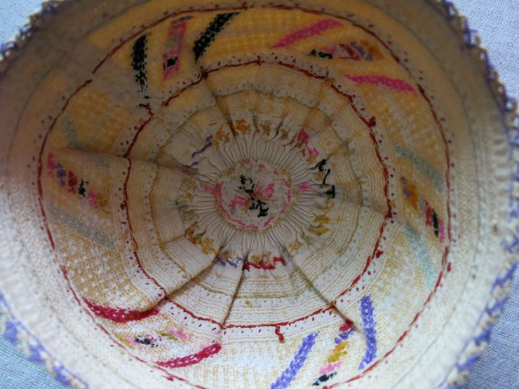 SYRIAN SILK EMBROIDERED ETHNIC HAT