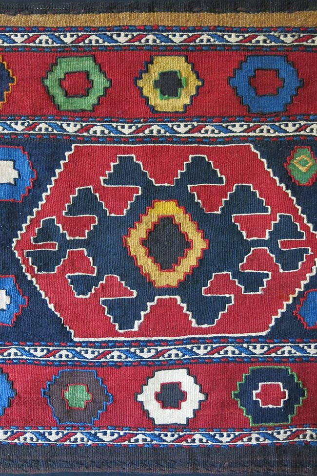 CAUCASUS - AZERBAIJAN Tribal bedding bag kilim side panel