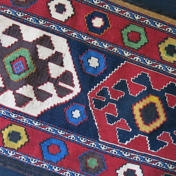 CAUCASUS -AZERBAIJAN Tribal bedding bag kilim side panel