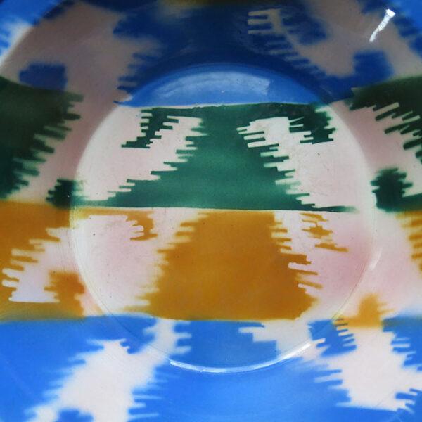 UZBEKISTAN - TASHKENT Ikat inspired-design ceramic bowl