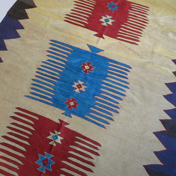 ANATOLIAN AFYON All wool tribal KILIM