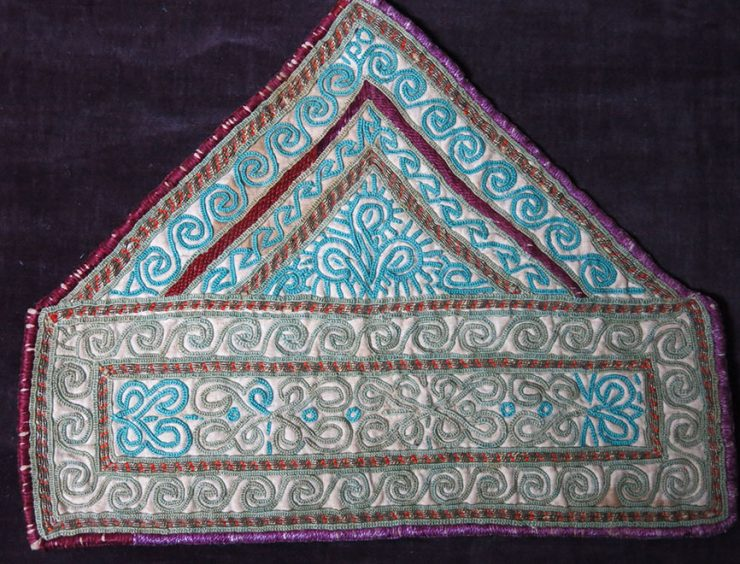 AFGHANISTAN - PASHTUN silk embroidery costume cuffs