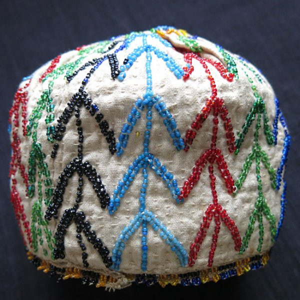 TURKEY ANATOLIA – Kutahya, beaded tribal ceremonial hat