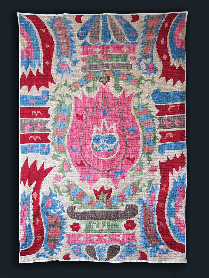 UZBEKISTAN - FARGANA VALLEY KAITAG silk embroidery