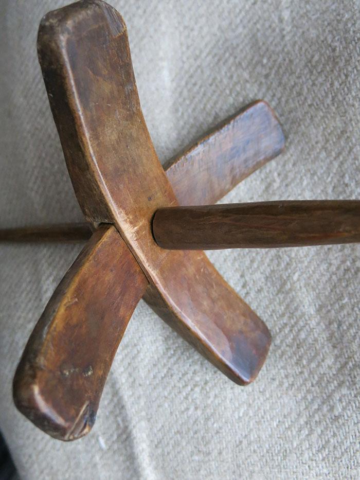 ANATOLIAN KONYA KARAPINAR Hand carved Turkmen drop spindle