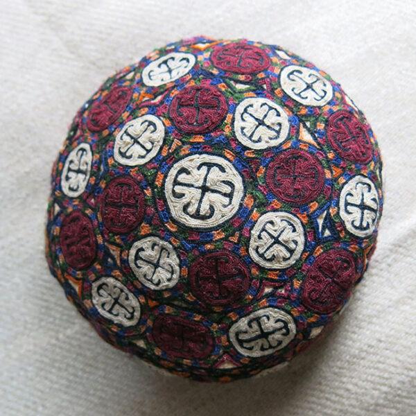 TURKMENSAHRA TURKMEN YOMUD tribal hand embroidered skullcap