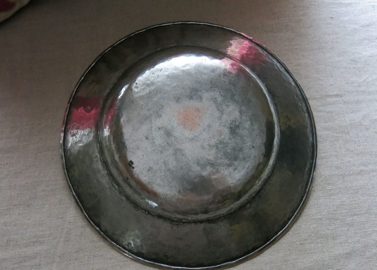 TURKEY Central ANATOLIA – Ottoman hand forged tinned copper plate