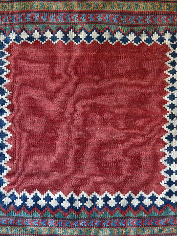 QASHKAI Tribal mini Chai sofreh style all wool vintage kilim