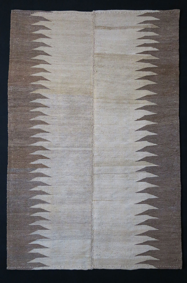 EASTERN TURKEY – DOGUBEYAZIT KURDISH natural wool KILIM from Mt. ARARAT