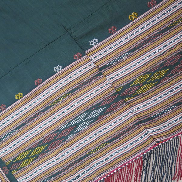 CENTRAL ASIA – TURKMEN YOMUD tribal hand woven Silk Shawl