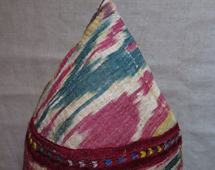 CENTRAL ASIA - CHODOR TURKMEN ethnic ceremonial hat