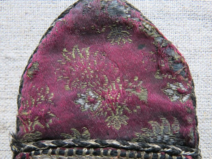 PERSIA SAFAVID Dynasty – SURMADAN, silk and metallic embroidery make up bag