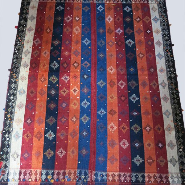 QASHKAI – MOJ twill weave Turkic tribal wool kilim