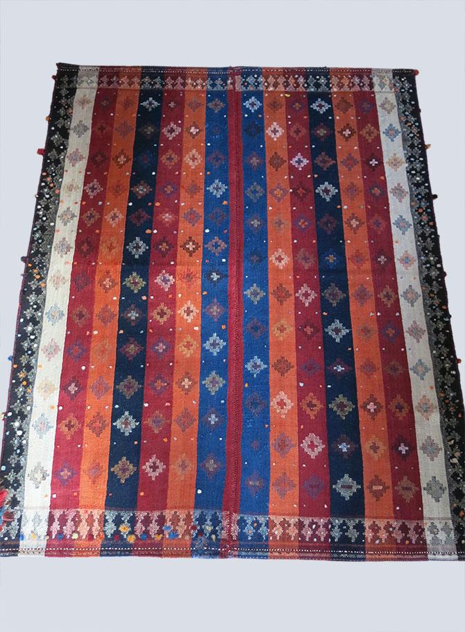 QASHKAI – MOJ twill weave Turkic tribal wool kilim