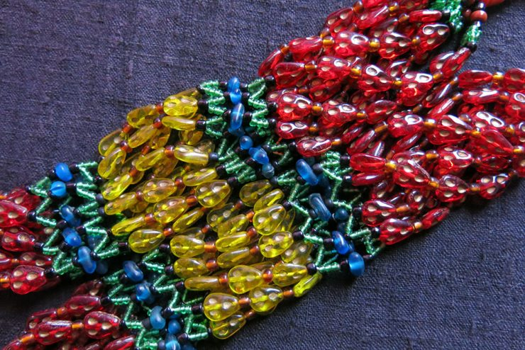AFGHANISTAN UZBEK - KUNGRAT tribal beaded necklace