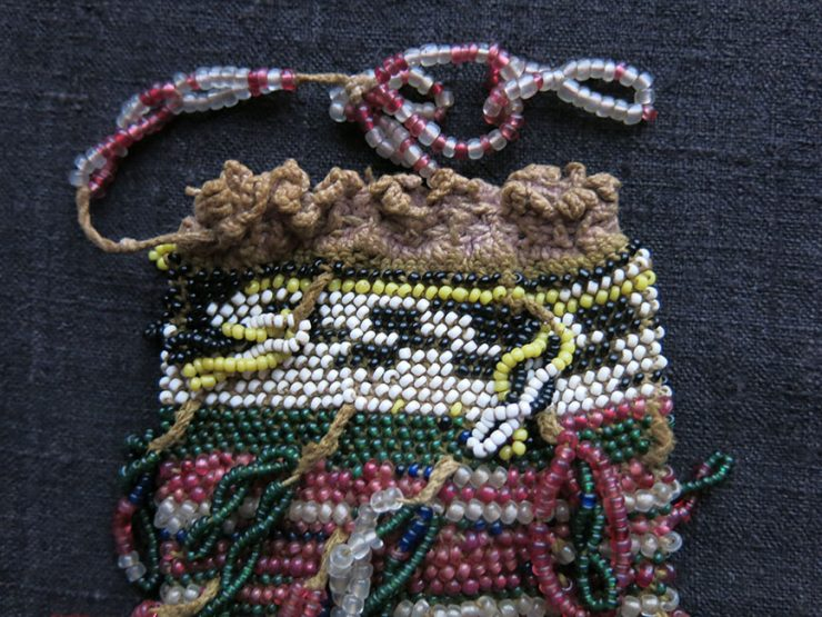 ANATOLIAN Eastern TURKEY possibly Kurdish antique beaded pouch
