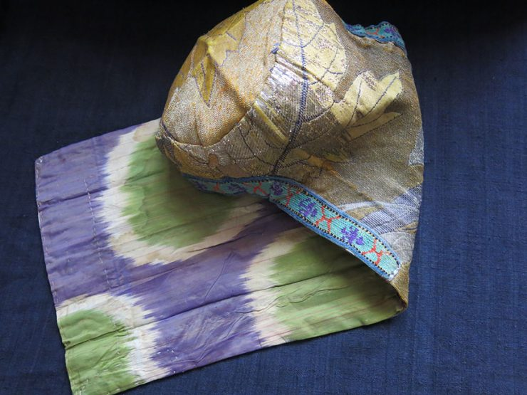 UZBEKISTAN BOKHARA - Kultapush – silk brocade antique hat