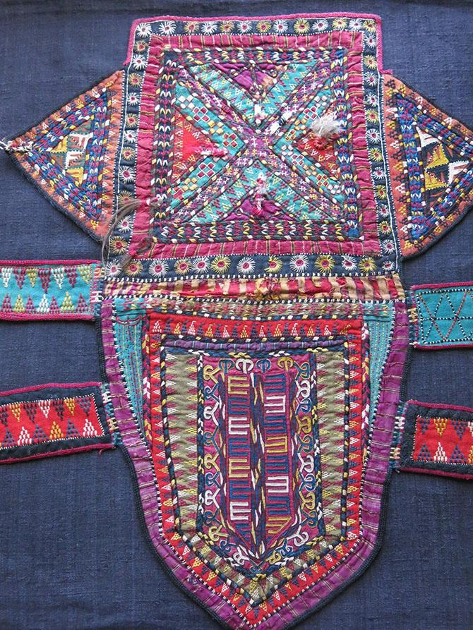 TURKMENISTAN TEKKE tribe ceremonial Camel trapping fragment