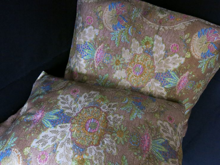 RUSSIAN SILK and METALLIC brocade pair of pillow covers