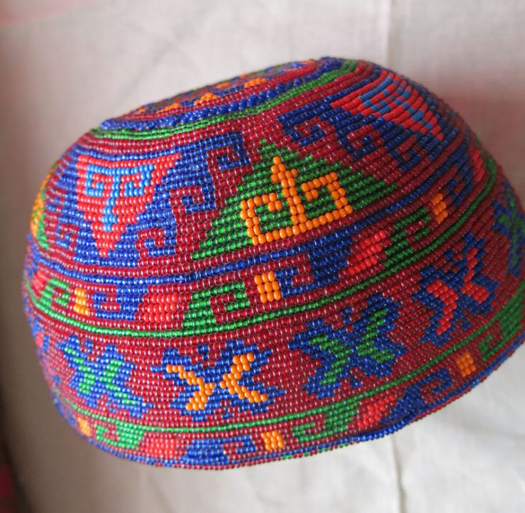 AFGHANISTAN PASHTUN TRIBAL BEADED HAT