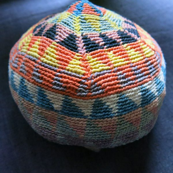 SYRIA - KURDISH hand knitted tribal wool hat