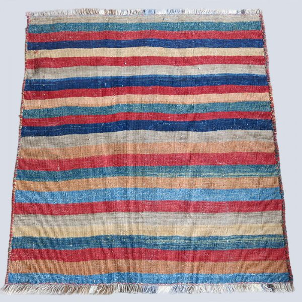 AZERBAIJAN Shahsavan all wool tribal kilim