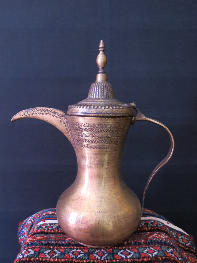 SYRIA DAMASCUS handmade brass large coffee pot