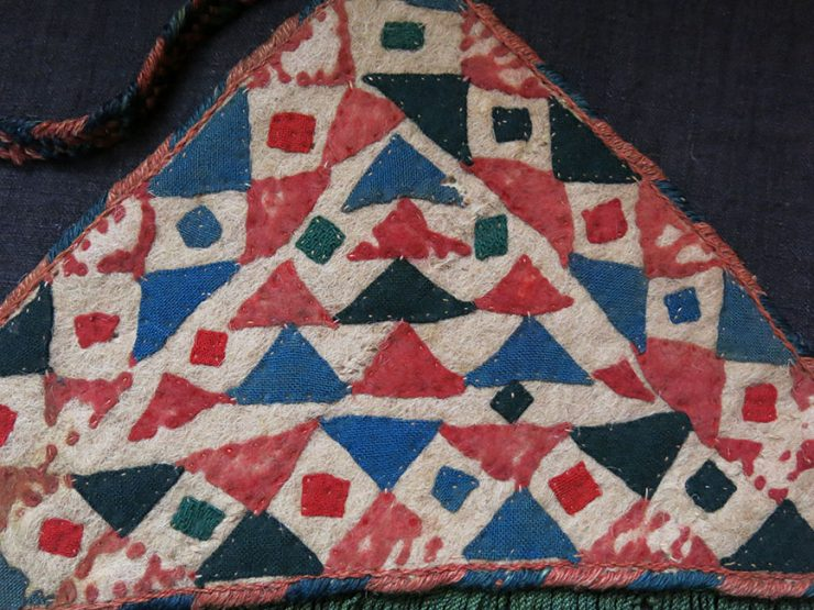 TURKMENISTAN ERSARY Tribal felt pot holders