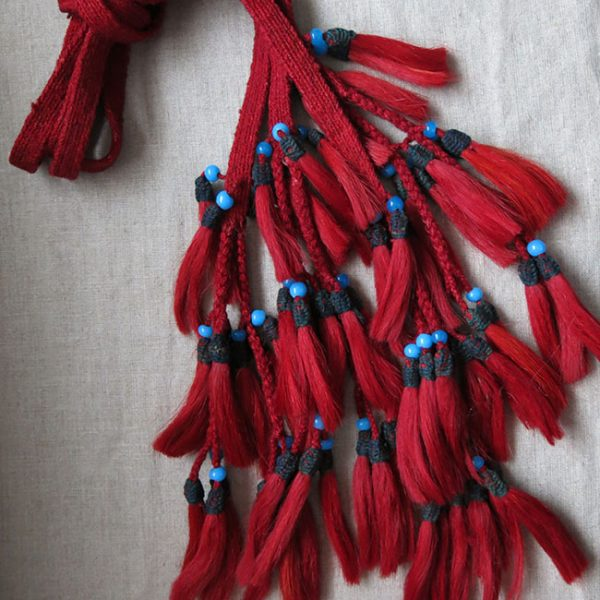 ANATOLIAN – BERGAMA Turkmen tribal wool and goat hair beaded tassels