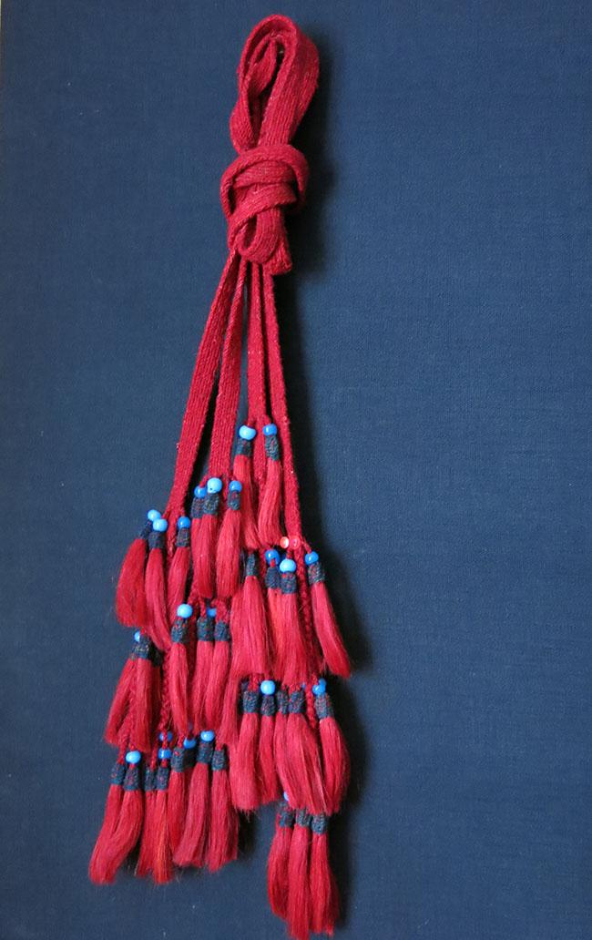 ANATOLIAN – BERGAMA Turkmen tribal wool and goat hair beaded tassels