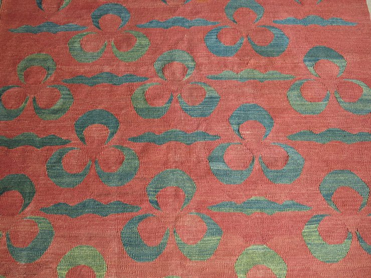ANATOLIAN BERGAMA ALL WOOL KILIM with CHINTAMANI design