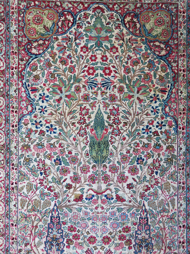 KERMAN – LAVAR GARDEN of PARADISE PRAYER RUG