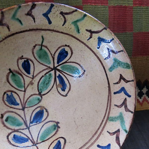 ANATOLIAN / Gallipoli – DARDANEL / CANAKKALE – glazed antique ceramic plate