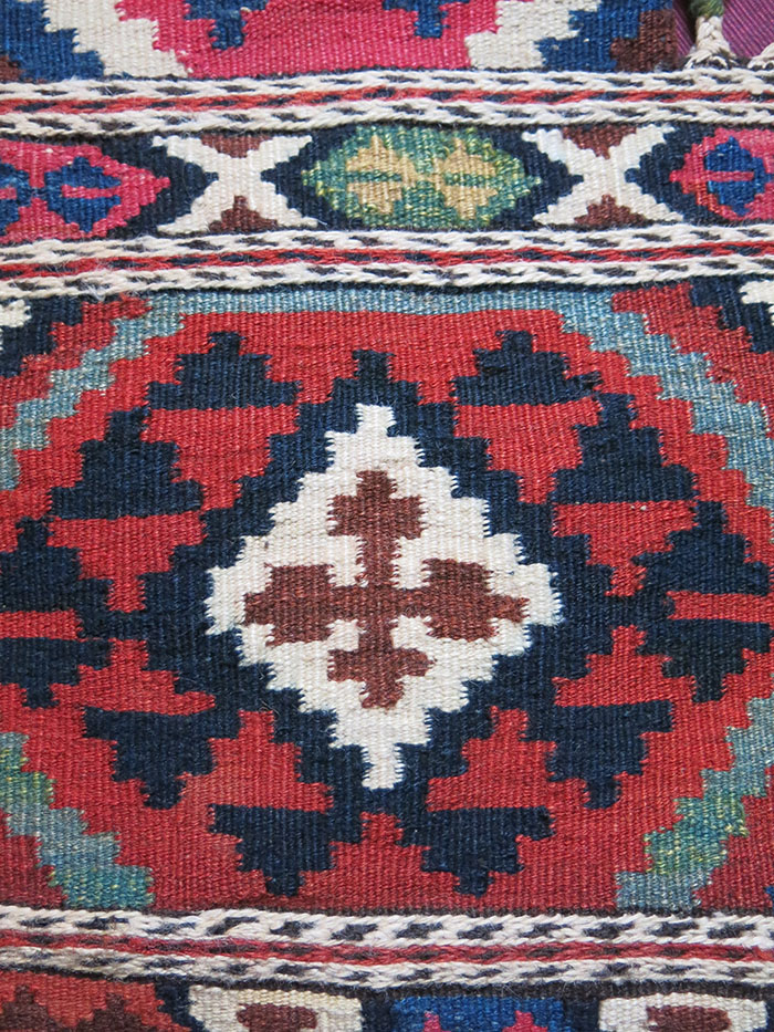 AZERBAIJAN - SHAHSAVAN tribal kilim animal salt bag
