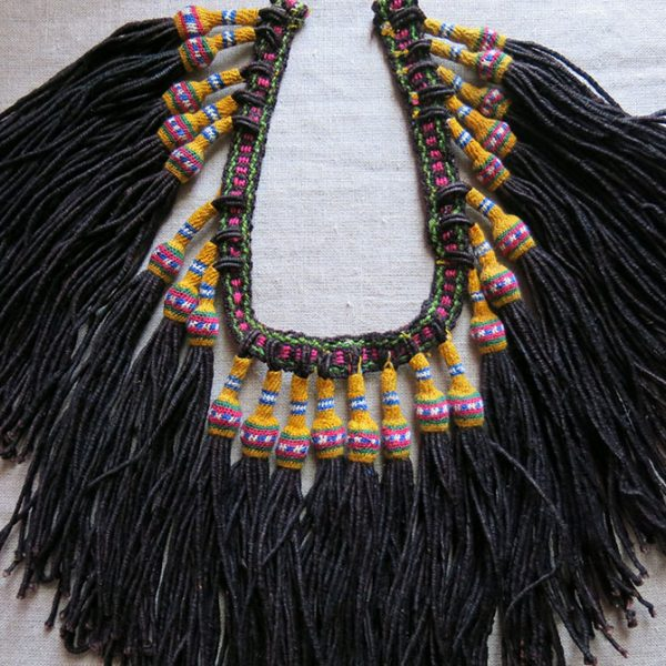 ALBANIAN HAND knitted WOOL DERVISH BELT TASSELS