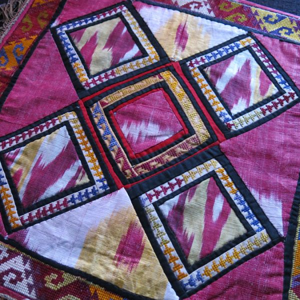 TAJIKISTAN LAKAI tribal silk embroidery mirror cover
